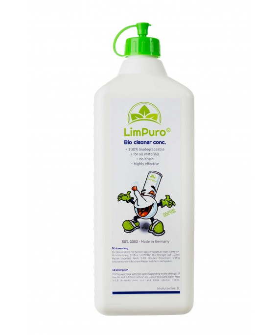 LimPuro Bong Pipe Bio Cleaner Concentrate 1Litre